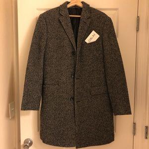 J. Crew Herringbone Wool Top Coat